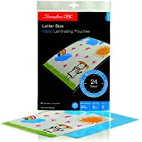 Swingline GBC SelfSeal NoMistakes Repositionable Self Adhesive Laminating Pouches, Letter Size, Matte, 8 Mil, 5 Pack (3747202)