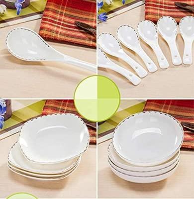 Amazon.com: Chuangrong 28-Piece Dinnerware Set, Service for ...