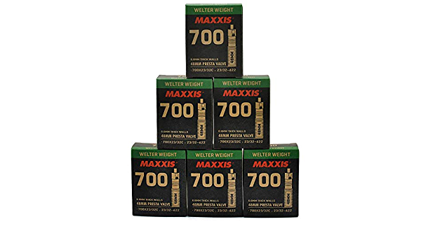 Maxxis Welter Weight 700x23-32C 48mm Presta FV Bike Inner Tube 1 Pack 6 Pack