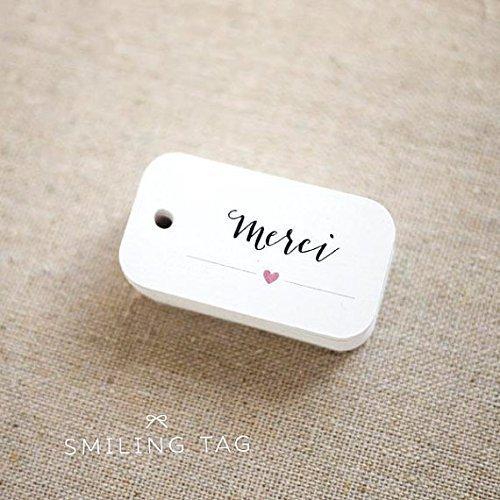 Amazon Merci Thank You Personalized Wedding Favor Tags Custom