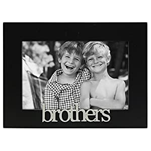 malden international designs brothers expressions picture frame 4x6 black