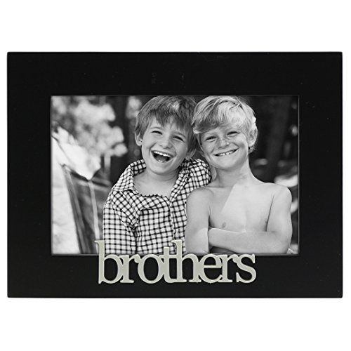 Malden International Designs Brothers Expressions Picture Frame, 4x6, Black