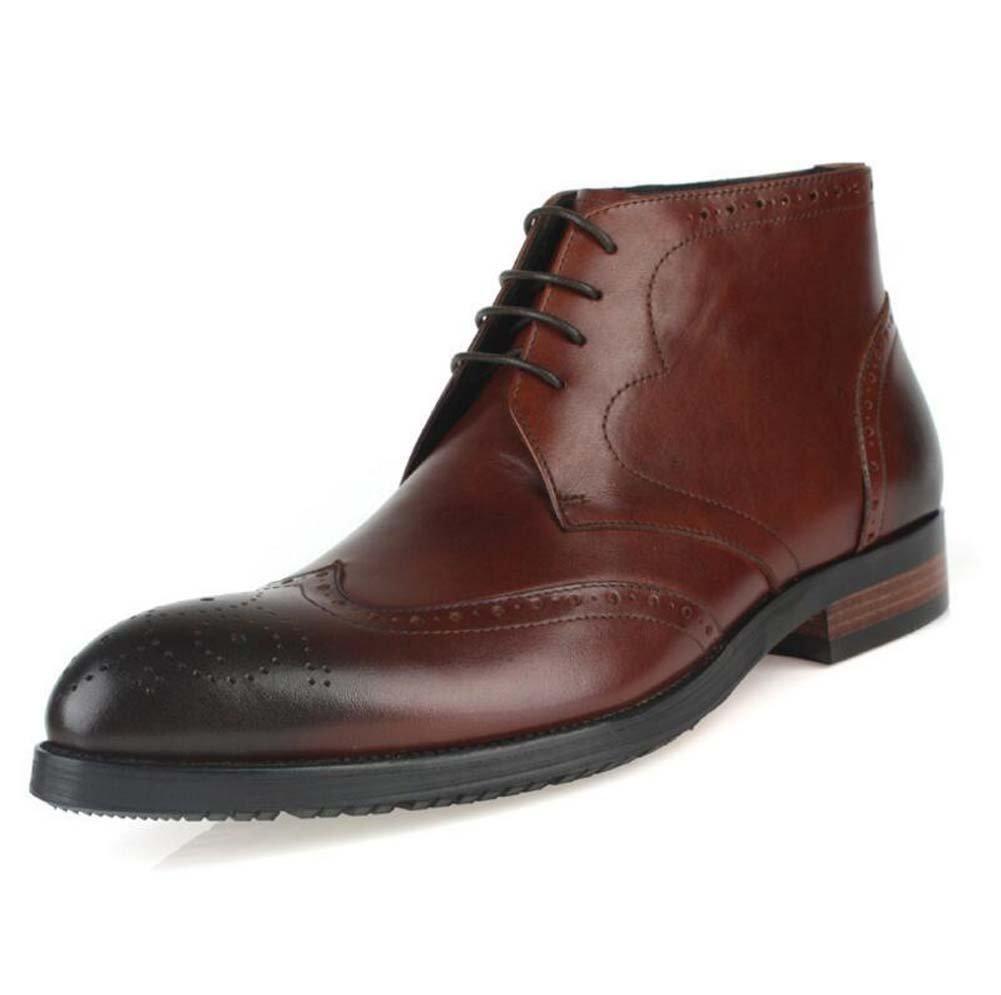 GLSHI Chaussures à Lacets pour Hommes Chaussures à Lacets Britanniques Chaussures à Lacets Bottes en Cuir