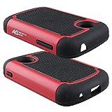 lg 305c phone case - LG 306G Case - Armatus Gear (TM) Slim Defender Hex Grid Hybrid Armor Case Impact Resistant Protector Cover For LG 306G / LG 305C (TracFone / NET10 / StraightTalk) - Black/Red