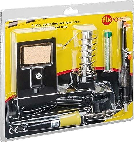 Fixpoint - Set de soldador (4 piezas), color negro: Amazon.es: Industria, empresas y ciencia