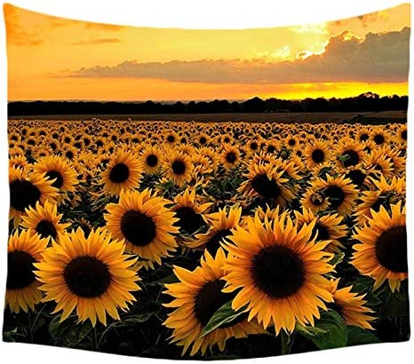 ASTIHN Retro Oil Painting Sunflowers Tapestry Wall Hanging Tapestry Blanket Decorate Home Bedroom Living Room 60×80 inches