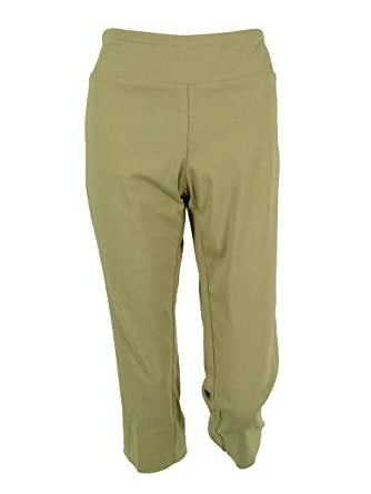 Alfani Womens Plus Tummy Control Flat Front Capri Pants at Amazon ...