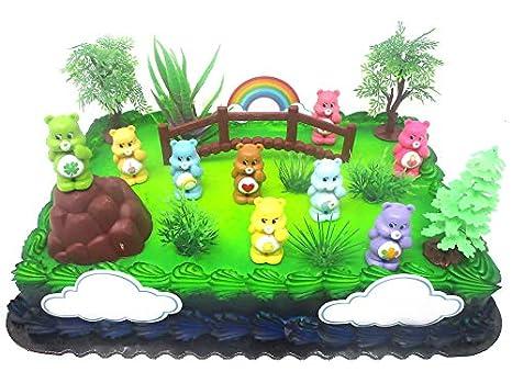 Amazon.com: Care Bears Birthday Cake Topper Set Featuring Care Bear ...