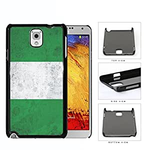 Nigerian Flag Grunge Surface Hard Plastic Snap On Cell Phone Case Samsung Galaxy Note 3 III N9000 N9002 N9005