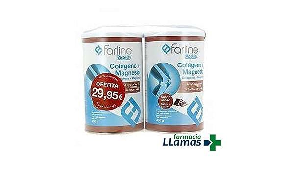 COLAGENO + MAGNESIO DUPLO FARLINE 400GR UNIDAD SABOR CHOCOLATE: Amazon.es: Salud y cuidado personal