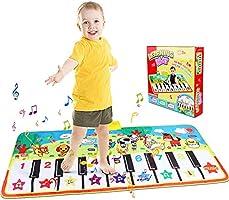 Alfombra de Piano, Alfombra Musical de Teclado, Alfombra Piano de Animales para Niños Niñas, Alfombrilla Musical Estera...