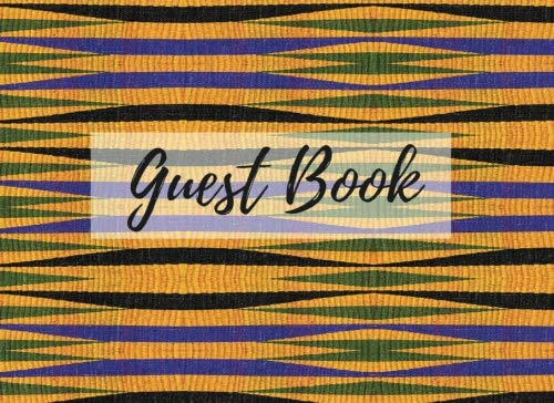 Search : Guest Book: (African Fabric (17), Event Guest Book, For Events, Anniversary, Retirement Party, Wedding, Birthday,101 pages - [Professional Binding]