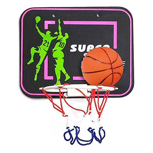 ArtCreativity Plastic Basketball Hoop Game for Kids and Adults, Includes 1 Mini Ball, 1 Back Board Net, Hanging Stickers, Indoor Basketball Set for Home, Office, Bedroom, Best Gift for Boys and Girls