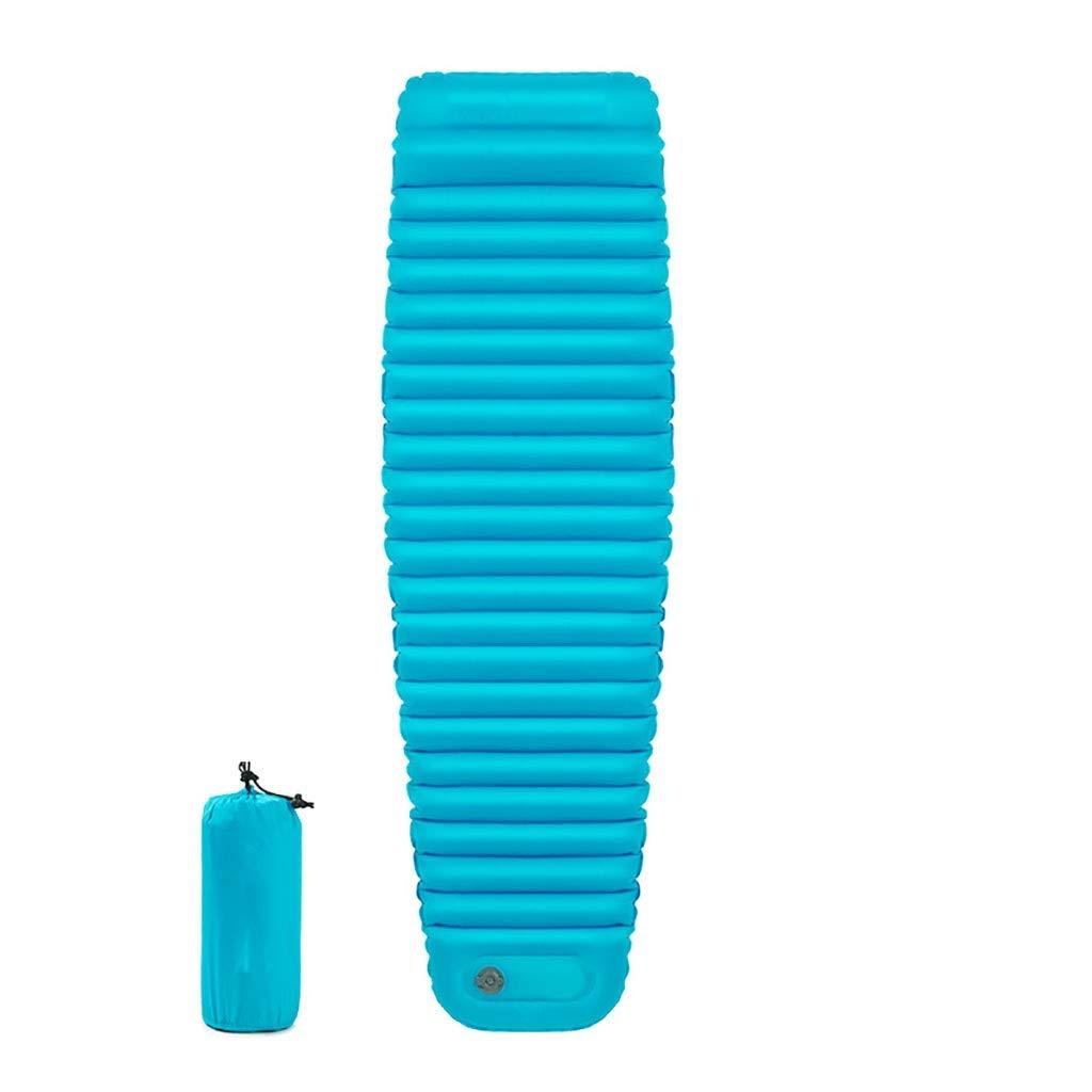 Rcd Inflar manualmente la Almohadilla para Dormir Inflable Cálido Acampar Cama Tienda de campaña Colchón de Aire A Prueba de Humedad Cojín Excursión a la Naturaleza (Color : A)