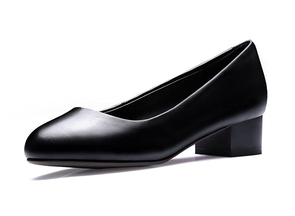 1TO9 Womens Professional Round-Toe Light-Weight Comfort Leather Pumps Shoes MMS04008