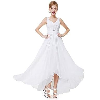 Kleid Damen Weiß Favolook 38 9eW2IYDHE