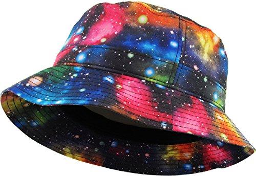 (KBETHOS Galaxy Bucket Hat, One Size (Medium to Large), (Galaxy) Black )