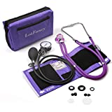 Aneroid Sphygmomanometer and Dual Head Stethoscope, LotFancy Manual Blood Pressure Monitor, Adult Cuff