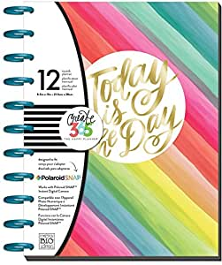 me & my BIG ideas Create 365 2017 The Big Happy Planner, Kaleidoscope Stripes, 12 Month Planner, January 2017 - December 2017