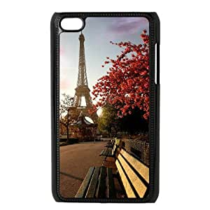 Ipod Touch 4 2D DIY Phone Back Case with Eiffel Tower Image