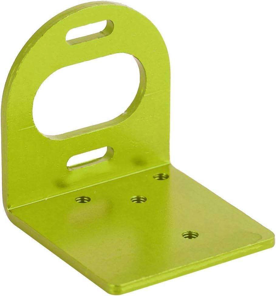 RC Support de Montage de Moteur en métal Base de siège pour Moteur 540 3660 3650 Accessoire RC( Silver) Vert