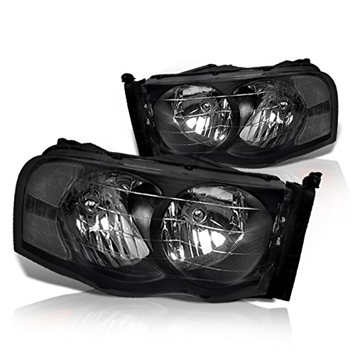 Instyleparts Clear Lens Headlights with Black Housing Compatible with Dodge Ram 1500 2500 3500 ()