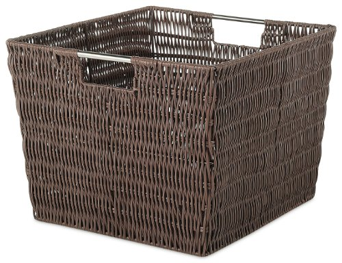 Whitmor Rattique Storage Tote Basket - Java