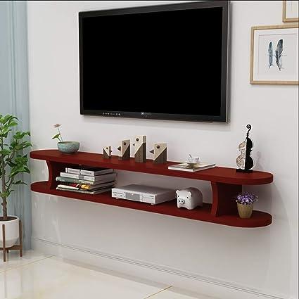 Amazon.com: Wall Shelf Floating Shelf Wall-Mounted TV Cabinet TV ...