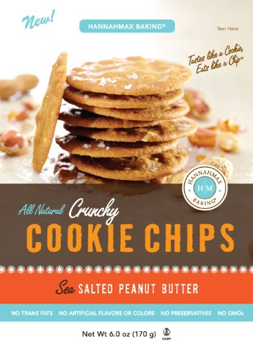 Hannah Max All Natural Sea Salted Peanut Butter Cookie Chips 6 Ounces (Pack of 15) by Hannah Max
