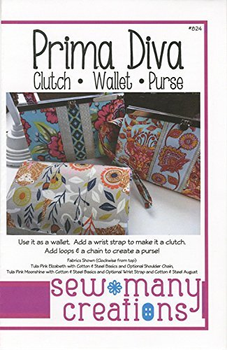 Prima Diva: Clutch - Wallet - Purse - Sewing Pattern Sew Purse Pattern