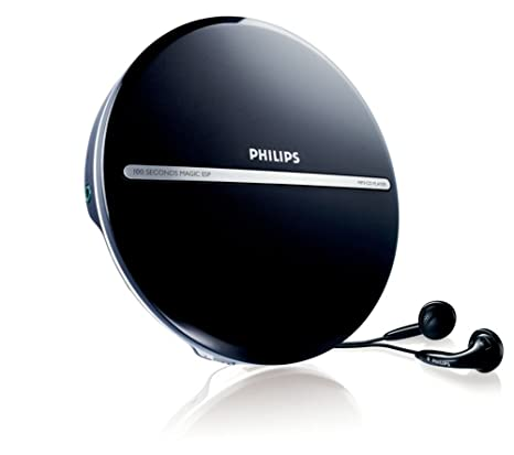 Philips EXP2546 Portable CD Player, Reads MP3, 100 Seconds ESP with  Headphones Included, Dynamic Bass Boost