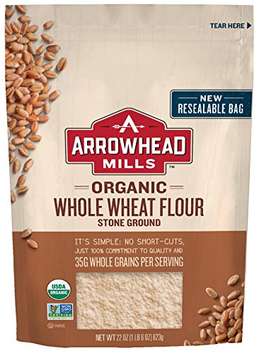 Arrowhead Mills Organic Stone Ground Whole Wheat Flour, 22 oz. Bag (Pack of - Mills Bread Mix Arrowhead