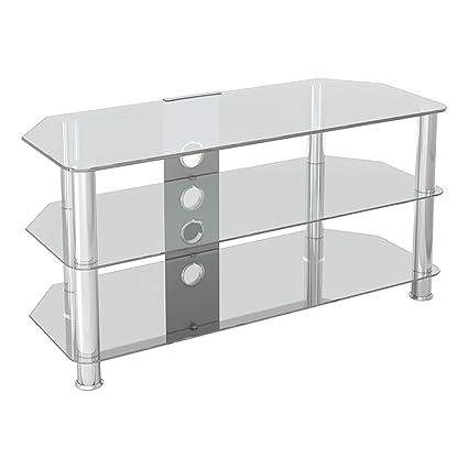 Amazon Com Avf Sdc1000cmcc A Classic Corner Glass Tv Stand Up To