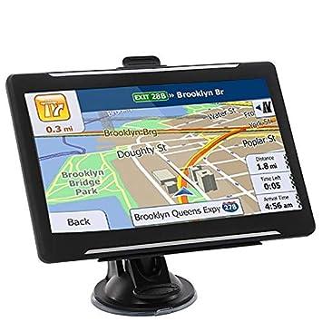 Navegación GPS para Coche, 7 Pulgadas, Pantalla táctil, Sistema de navegación GPS con mapas de por Vida gratuitos, Memoria de 8 G, múltiples Idiomas, alertas de Conductor de Acceso Directo: Amazon.es: Electrónica