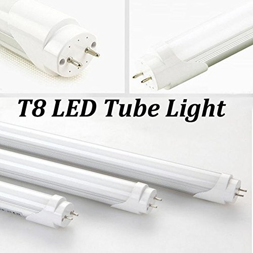 Easy-Installing &Eco-Friendly T8 LED Tube Light - 4FT 47'' 120CM 14W (32W Equivalent), Double-End Powered, Milky Cover, Works from 85-265VAC Fluorescent Replacement Lamp (1, 4ft Cool White 6000K-6500K) by Aurora Australis (Image #1)