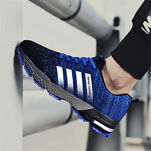 Casual Respirant Ubfen Hommes Bleu J Baskets Sports Athltique Course Femmes De Mode Lger Gym Fitness Marcher Chaussures zz7r1qxw