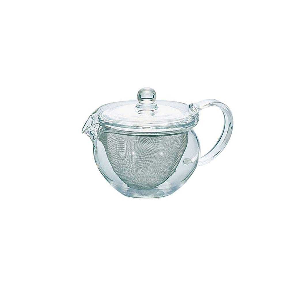 Glass tea set home heat-resistant glass teapot stainless steel strainer teapot Japan imported heat resistance 120 degrees safe and non-toxic CHAJU (Size : 300ml) by CHAJU