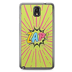 Zap Samsung Note 3 Transparent Edge Case - Comic Collection