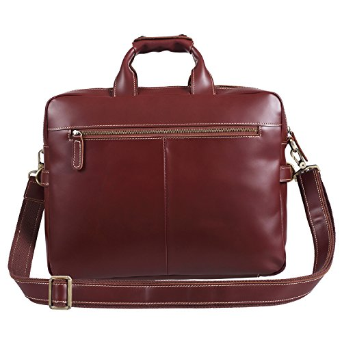 Polare Italian Leather Briefcase Should Bag Attache Fit 15.6inch Laptop by Polare (Image #3)