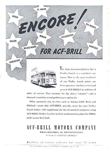 1946 ACF Brill Trolley Bus Brochure (Brill Trolley)