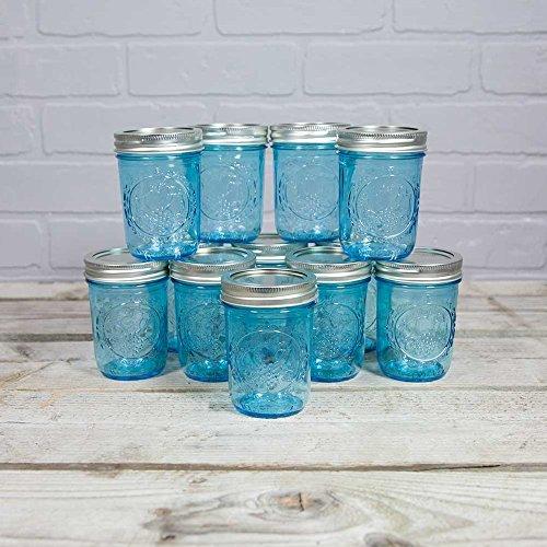 8 oz color mason jars - 1