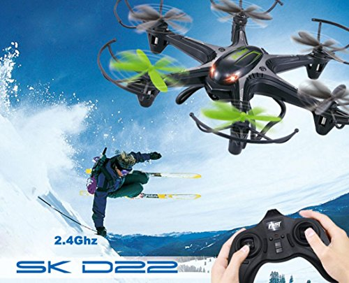 OVERMAL Xmas Gift 4-Channel 6-Axis SK D22 2.4GHz RC Quadcopter Drone for Kids Adults