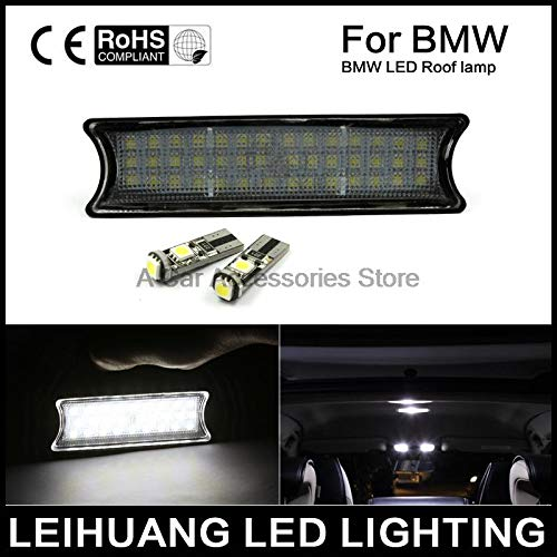 - Carvicto - Dome light Fit For 98-05 BMW E46 2D M3 4D COUPE WHITE LED INTERIOR ROOF LAMP LIGHT KIT DC 12V 42SMD led overhead