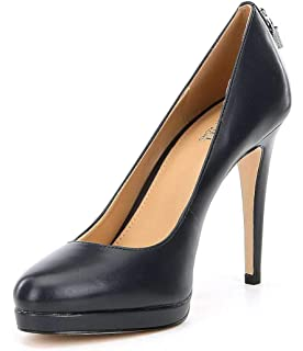 a61f1bc5dfa Michael Kors Womens Antoinette Leather Closed Toe Classic Pumps