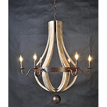 Vintage french country wood metal wine barrel chandelier pendant vintage french country wood metal wine barrel chandelier pendant rustic castle estate aloadofball Image collections