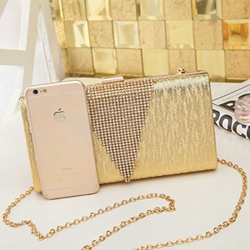 SSMK Envelope Clutch Bag - Cartera de mano para mujer plata