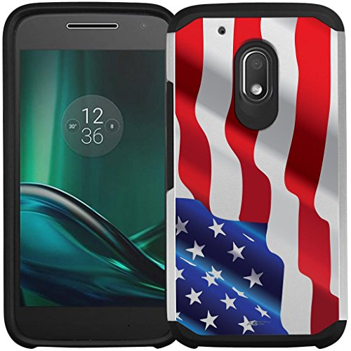 Moto G4 Play Case, Moto G Play Case - Armatus Gear (TM) Slim Hybrid Armor Case Protective Phone Cover for Motorola Moto G4 Play XT1607 / XT1609 (DOES NOT FIT MOTO 4G PLUS) - American Flag
