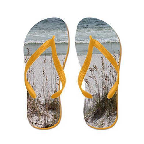 CafePress Sandy Beach - Flip Flops, Funny Thong Sandals, Beach Sandals Orange