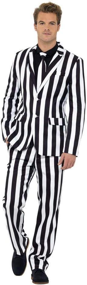 Horror-Shop Traje de rayas blanco y negro L: Amazon.es: Juguetes y ...