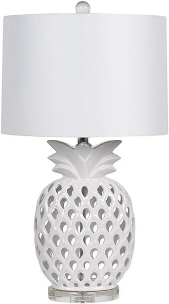 XUANLAN C/éramique design Lampe dananas lampe chambre d/écoration de jardin salon europ/éen d/économie d/énergie LED lampe de chevet simplicit/é moderne